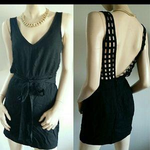 Bebe Black Mini Sexy Back Dress XS 0